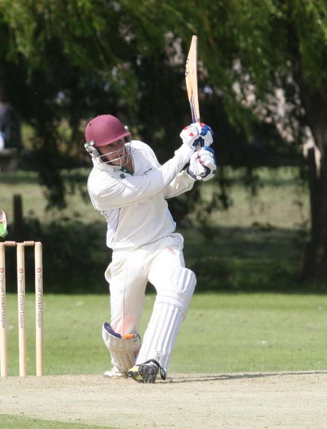 Will Watts hit an unbeaten century for Oxford Downs, but his side could only draw against bottom club Dinton