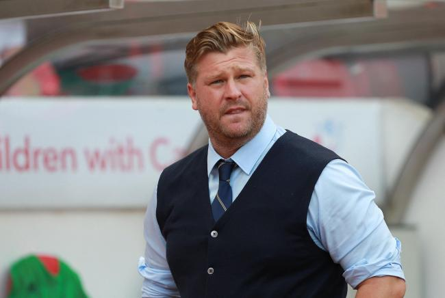 Karl Robinson watches on during Oxford United's 1-1 draw with Sunderland on Saturday Picture: Richard Parkes
