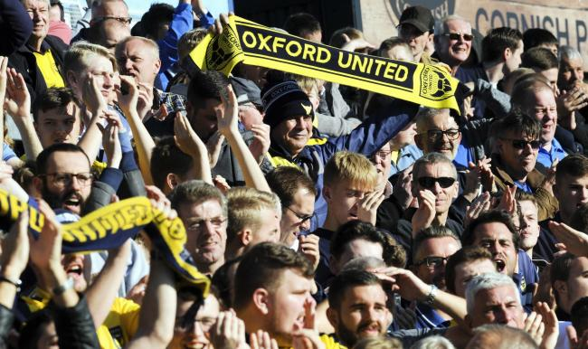 Oxford United supporters on the away terrace at Bristol Rovers last season                    Picture: David Fleming