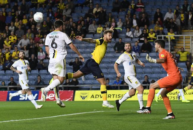Matty Taylor made his Oxford United return in the 4-2 defeat to Burton Albion on Tuesday night  Picture: David Fleming