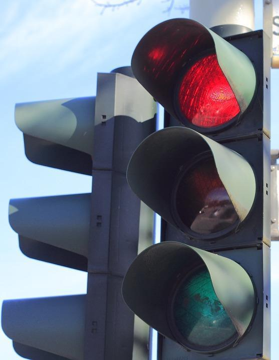 Traffic lights out at roundabout