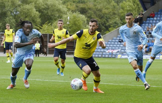 Anthony Forde is delighted with Oxford United's form after a difficult start to the campaign Picture: David Fleming