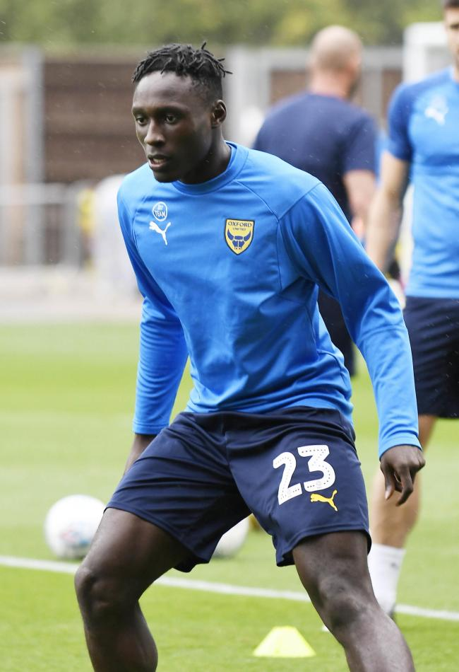 Dan Agyei is set to make his Oxford United debut tonight   Picture: David Fleming