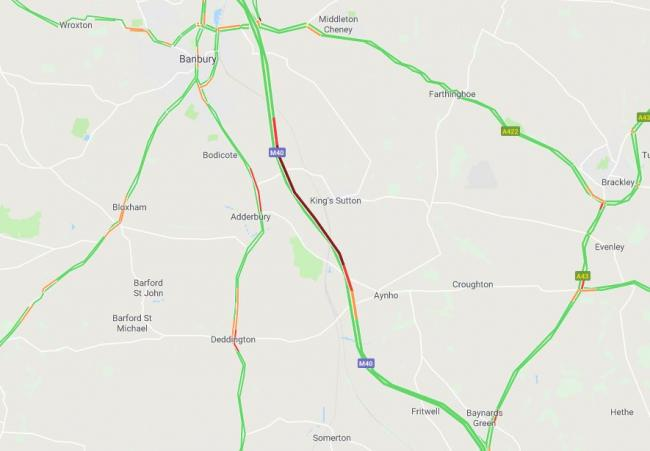 The traffic at 7.35am Picture: Google Maps