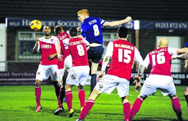 Dave Kitson heads home Oxford United's 89th-minute equaliser at Fleetwood Town