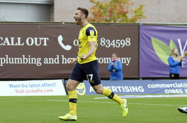 James Henry celebrates his first goal..Picture by: David Fleming.