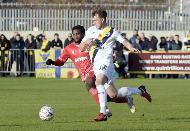 Sam Long is in line for his fourth consecutive Oxford United start at Gillingham today – his longest run since the end of last season Picture: David Fleming