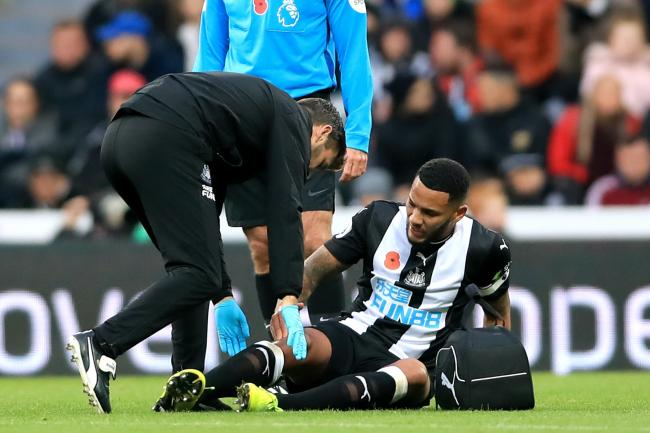 Jamaal Lascelles received treatment for the problem on Saturday.