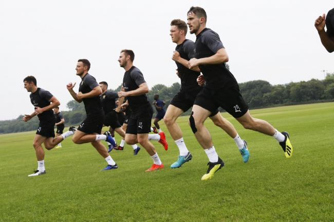 Oxford United's first team training at Oxford Sports Park in the summer  Picture: Ed Nix