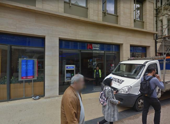 Metro Bank on Queen Street wants to build another ATM. Pic Google Maps
