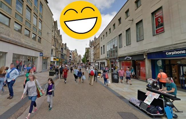 Oxford happiness levels. Picture: Google Maps