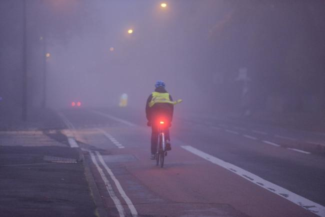 Fog in Banbury Road, Oxford (file image)