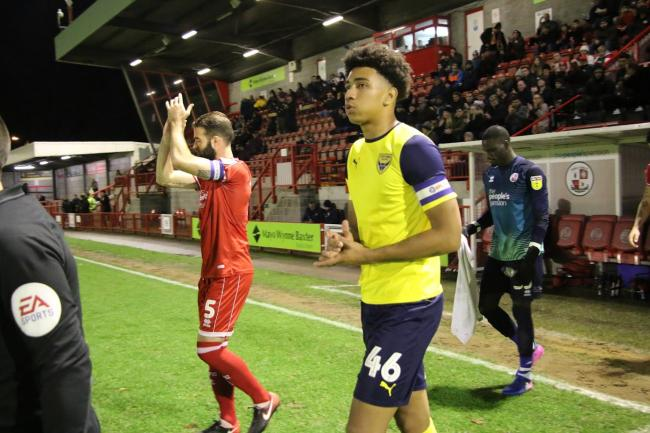 Nico Jones captained Oxford United in the previous Leasing.com Trophy match, at Crawley Town last month  Picture: Steve Daniels