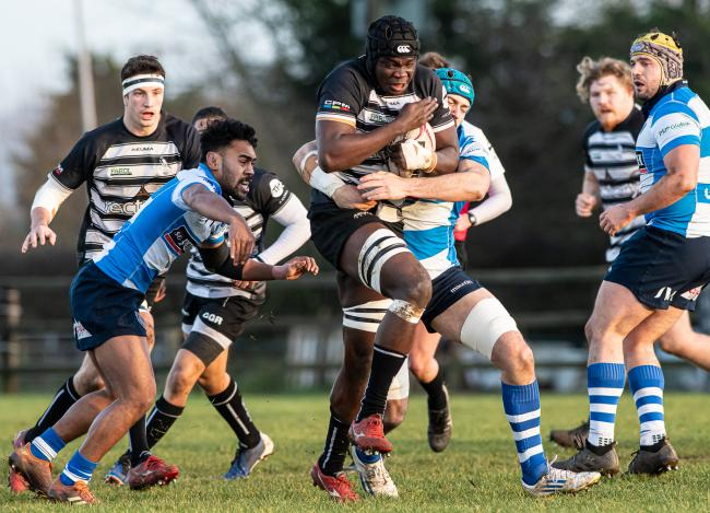 Ehize Ehizode returns for Chinnor against Hull following concussion Picture: Simon Cooper