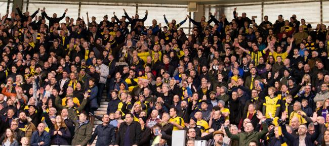 Oxford United fans at Middlesbrough in 2017  Picture: James Williamson