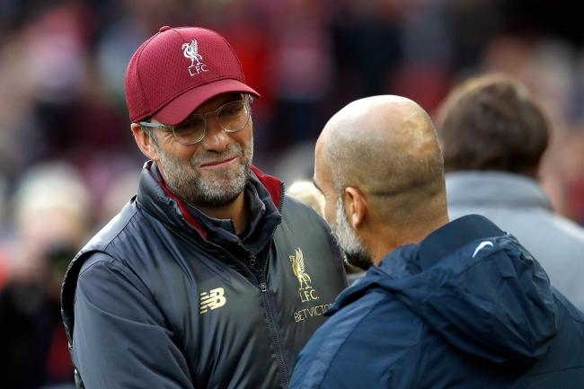 Jurgen Klopp, left, has expressed his sympathy for Pep Guardiola