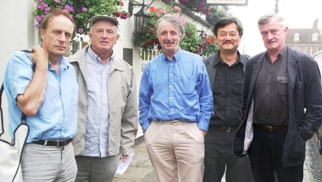 Mick Henry and guests at a previous Bloomsday celebration