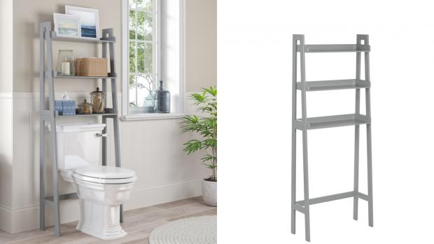 Banbury Cake: Over-the-toilet units provide a lot more storage space. Credit: Wayfair