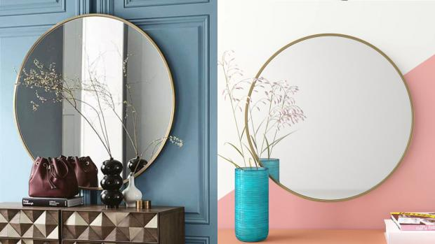 Banbury Cake: A bigger, more modern mirror will create the illusion of more space. Credit: Wayfair