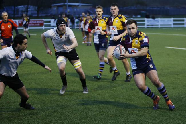 Oxford Harlequins in action at Horspath last season    Picture: Ed Nix