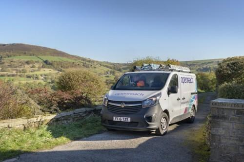 Openreach van in rural setting