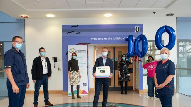 Oxford University Hospitals staff celebrate the 100th birthday of Oxfordshire Hospital School