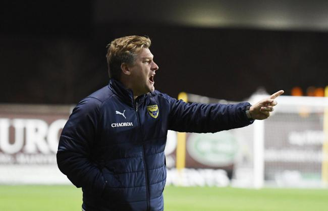 Oxford United head coach Karl Robinson pointed a finger at his players' desire after they went down to a home defeat against Crewe Alexandra   Picture: David Fleming