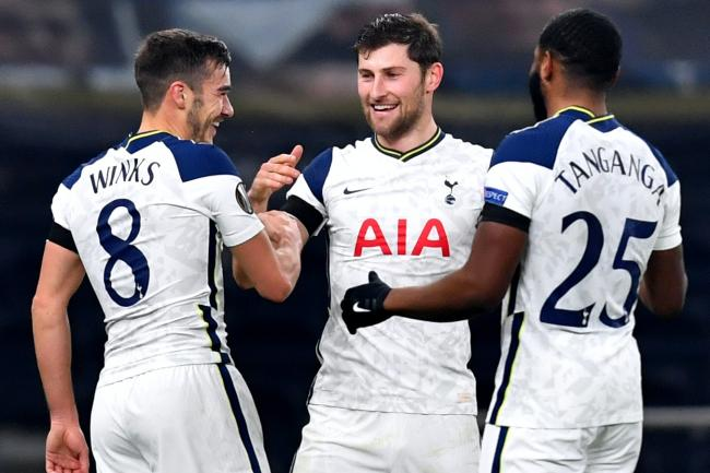 Harry Winks celebrated only his third goal for boyhood club Tottenham in the 4-0 win over Ludogorets in the Europa League