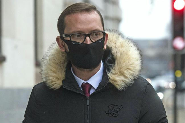 Adamo Canto leaving Westminster Magistrates' Court