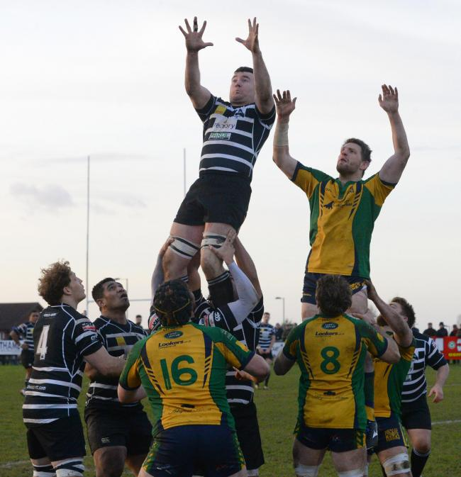 Chinnor and Henley Hawks contest a lineout during a clash in 2014 Picture: Denis Kennedy