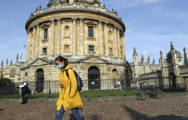 Lockdown in Oxford. Pic of Radcliffe Camera by PA news agency