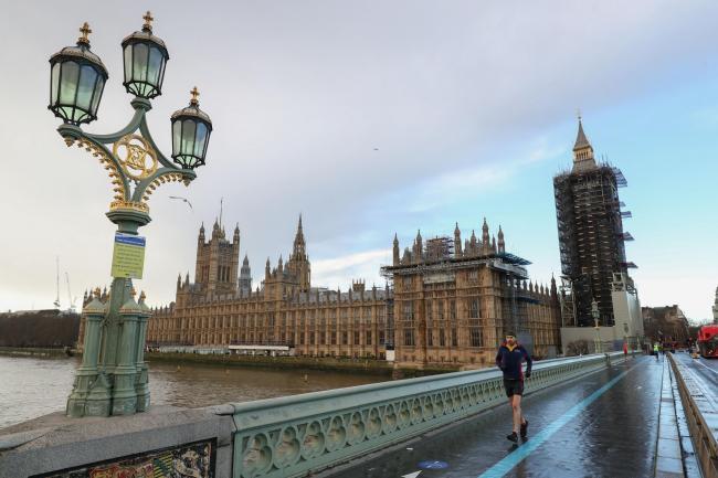 A quiet Westminster bridge by the Houses of Parliament