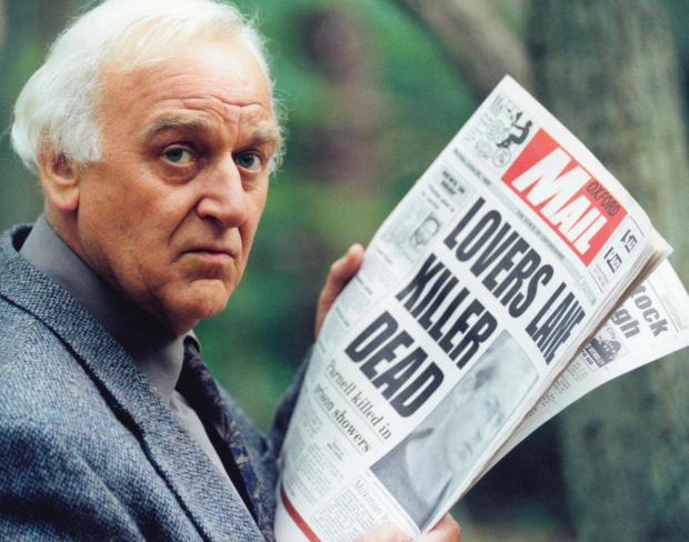 "Banbury Cake: Inspector Morse. John Thaw as Inspector Morse in ""The Way Through The Woods"". 28/02/1998"