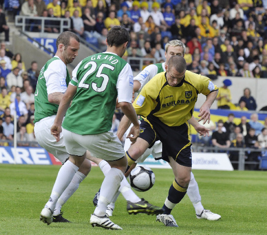 Oxford United goalscorer James Constable against Northwich Victoria in 2009 Picture: David Fleming
