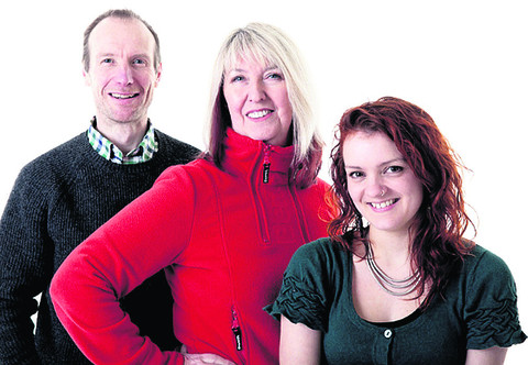 Maddy Prior, centre, with Giles Lewin and Hannah James