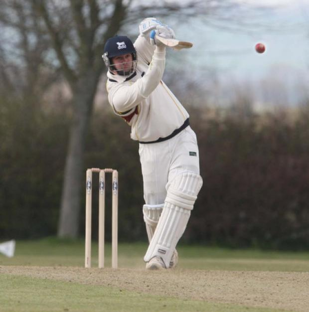 Nathan Hawkes, seen blasting a boundary on the way to making 71 in Oxon's friendly win over Bucks last Sunday, will bid to shine again against Cornwall