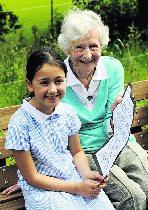 Age seven to nine category winner Roni Parnes talks to Enid Simpson about her work. Picture: OX52720 David Fleming