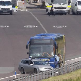 Banbury Cake: Police closed the M6 toll road near Birmingham after an incident on a Megabus coach