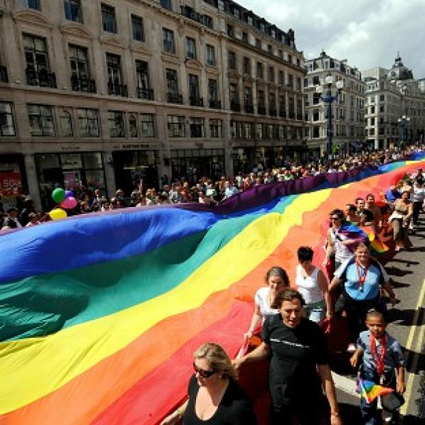 The rainbow flag is being flown over Whitehall to coincide with London's gay pride event this weekend