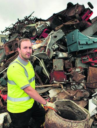 Gareth Hughes, of LC Hughes scrap metal merchants in Bicester