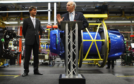Business Secretary Vince Cable at today's announcement