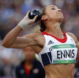Jessica Ennis dropped down into second after the shot put