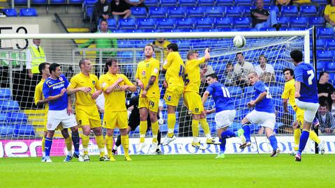 Peter Whittingham curls in a free-kick to put Cardiff ahead against Oxford on Saturday