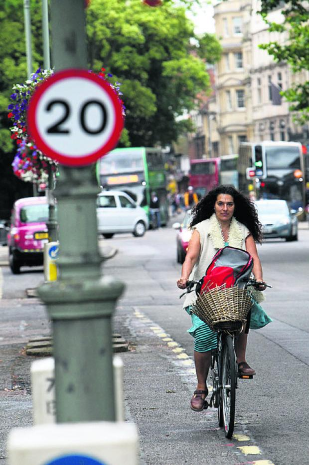 Banbury Cake: Sushila Dhall, pictured in the St Gile's 20mph zone