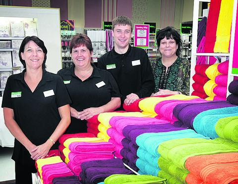 Dunelm Mill store manager Sarah Sheehan, right, with colle