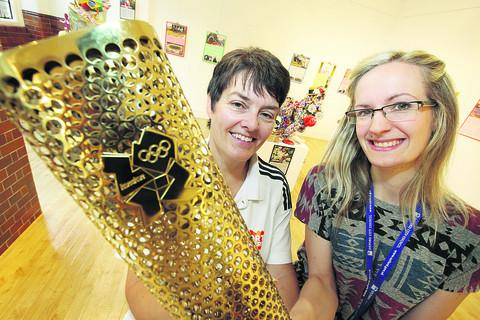 Fitting day for torch to be put on display
