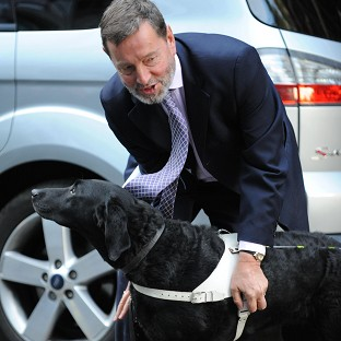 Former cabinet member David Blunkett was refused his seat at the Paralympics opening ceremony because it was unsuitable for his guide dog