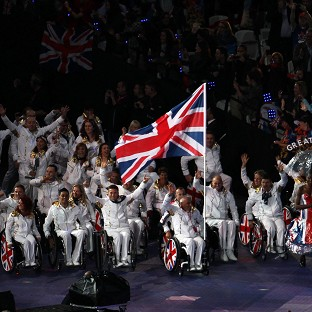 The opening ceremony of the Paralympic Games was a spectacular display which culminated with the arrival of the British team