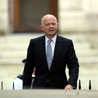 Foreign Secretary William Hague raised concerns over incidents in Sudan