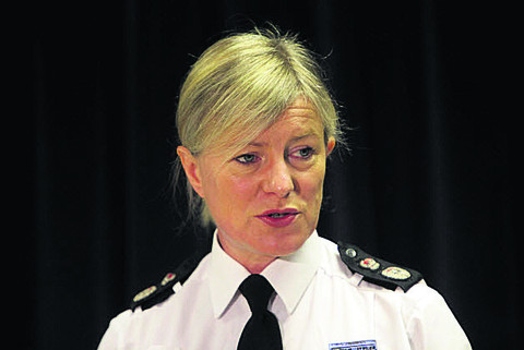 Thames Valley Chief Constable Sara Thornton at a media briefing at Thames Valley Police's Kidlington HQ yesterday